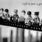 Life Is Just A Game Lego Cool 32x24 Print Poster