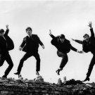 The Beatles Jump Retro BW Music 16x12 Print Poster