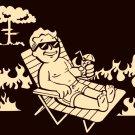 Vault Boy Fallout Vacation Nuclear Cloud Art 32x24 Print POSTER