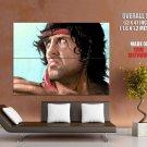 John Rambo Painting Art Sylvester Stallone Movie Huge Giant Print Poster