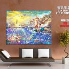 The Little Mermaid Walt Disney Painting Art HUGE GIANT Print Poster