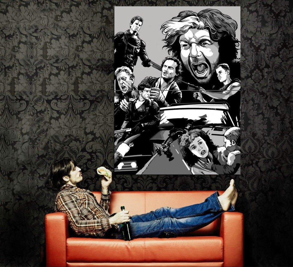 Mad Max Rockatansky Toecutter Art Mel Gibson BW Movie Huge 47x35 POSTER