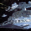 Star Destroyer Chasing Falcon 24x18 Print Poster
