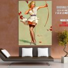 Archer Girl Pin Up Art Gil Elvgren Huge Giant Print Poster