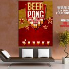 Beer Pong Alcohol Drinking Game Cool HUGE GIANT Print Poster