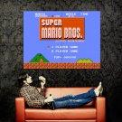 Super Mario Bros Main Menu NES 1985 Art Huge 47x35 Print POSTER
