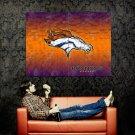 Denver Broncos Logo Football NFL Huge 47x35 Print Poster