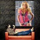 Trish Stratus WWE Pink Hot Sexy Girl Model Huge 47x35 Print Poster