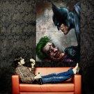 Batman Vs Joker DC Comic Art Huge 47x35 Print Poster