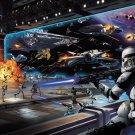 Clone Vs Droid Battle Star Wars 32x24 Print Poster
