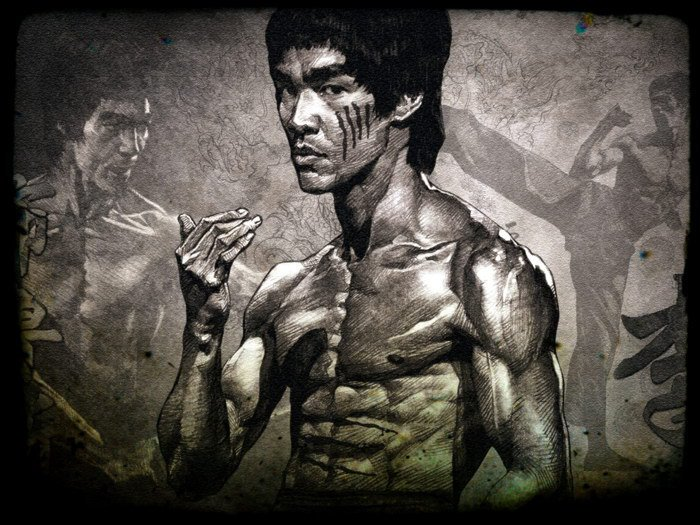 Bruce Lee Drawing Martial Arts 24x18 Print Poster