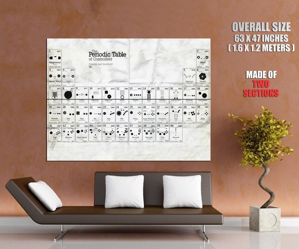 Periodic Table Of Controllers Nintendo Sega HUGE GIANT Print Poster