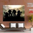 Tmnt Silhouette Teenage Mutant Ninja Turtles Art Huge Giant Print Poster
