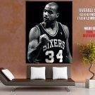 Charles Barkley Sixers Bw Retro Nba Huge Giant Print Poster