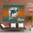 Miami Dolphins Logo Nfl Huge Giant Print Poster