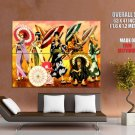 Anime One Piece Kimono Art Huge Giant Print Poster