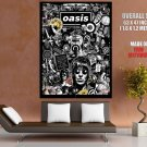 Oasis Music Collage Art Huge Giant Print Poster
