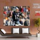 Tom Brady New England Patriots Nfl Sport Huge Giant Print Poster
