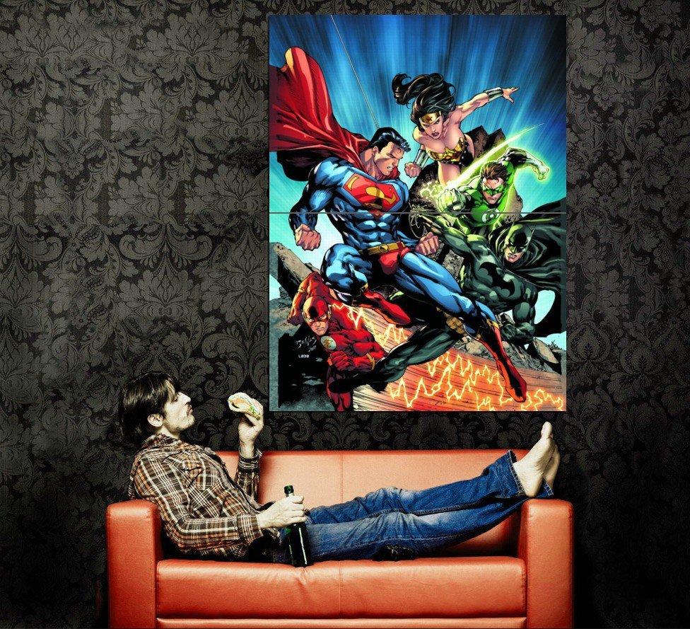 DC Comics Heroes Superman Batman Art Huge 47x35 Print Poster