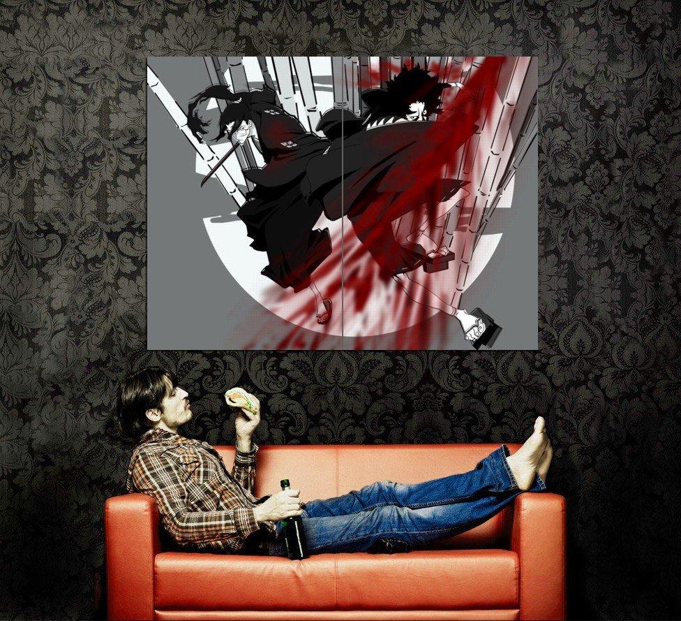 Samurai Champloo Blood Anime Art Huge 47x35 Print Poster