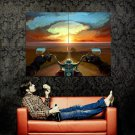 Road POV Motorcycle Sunset Painting Art Huge 47x35 Print Poster