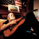 Willie Nelson Country Singer Guitar Music 16x12 Print POSTER