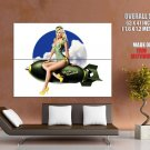Hot Pin Up Girl Bomb Art Huge Giant Print Poster