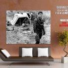 Mad Max Movie Mel Gibson Shotgun Bw Huge Giant Print Poster