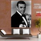 Sean Connery James Bond Legendary Actor Vintage Bw Huge Giant Poster