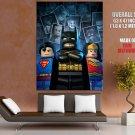 Lego Batman Superman Cool Huge Giant Print Poster