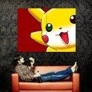 Pikachu Pokemon Anime Manga Art Huge 47x35 Print POSTER