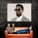 Kanye West Hip Hop Music Rapper Huge 47x35 Print Poster