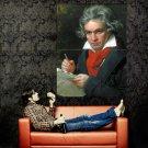 Ludwig Van Beethoven Painting Huge 47x35 Print Poster