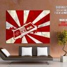 Japanese Flag Nintendo Nes Controller Art Huge Giant Print Poster