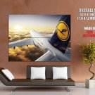Airbus A380 Lufthansa Aircraft HUGE GIANT Print Poster
