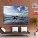 Airport Water Reflections Aircraft HUGE GIANT Print Poster