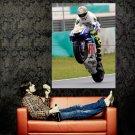 Valentino Rossi Wheelie Race Sport Bike Motorcycle Huge 47x35 Print POSTER