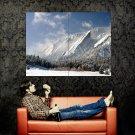 Snow Mountains Nature Landscape Huge 47x35 Print POSTER