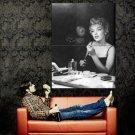 Marilyn Monroe Makeup Retro Actress BW Huge 47x35 Print Poster