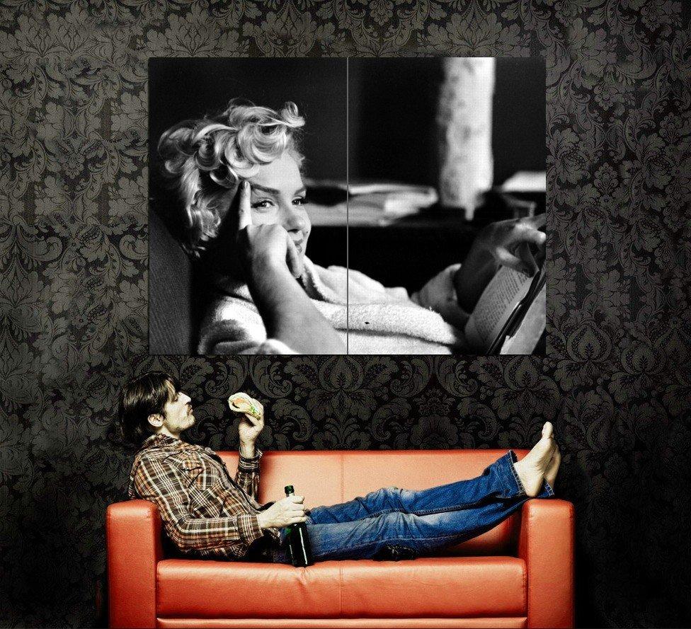 Marilyn Monroe Cool Portrait Actress BW Huge 47x35 Print Poster