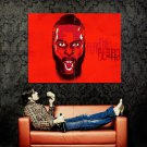 Fear The Beard James Harden NBA Houston Art Huge 47x35 Print Poster