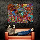 Psychedelic Music Painting Art Huge 47x35 Print Poster