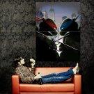 Teenage Mutant Ninja Turtles Raph Vs Leo Huge 47x35 Print Poster