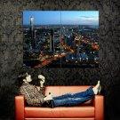 Australia Melbourne City Lights Cityscape Huge 47x35 Print Poster