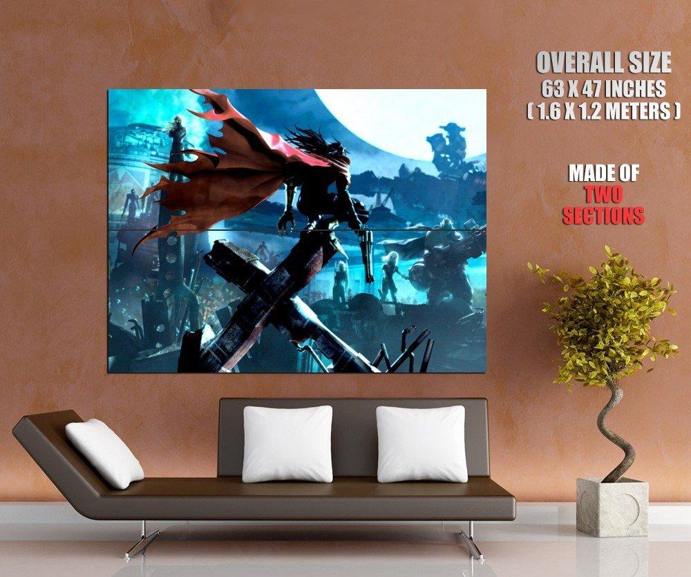 Final Fantasy Vii Ff7 Art Huge Giant Print Poster