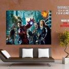 The Avengers Hulk Thor Black Widow Hawkeye Movie Huge Giant Print Poster