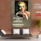 Marlene Dietrich Dishonored Actress Vintage Movie Huge Giant Print Poster