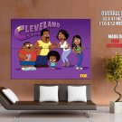 Cleveland Show Characters Tv Series Huge Giant Print Poster