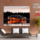 Bugatti Veyron Super Sport Car Reflection Huge Giant Print Poster