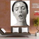 Monica Bellucci Honey Bw Portrait Huge Giant Print Poster